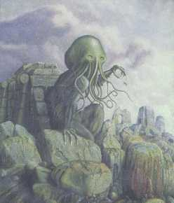 Cthulhu arising from the R'lyeh